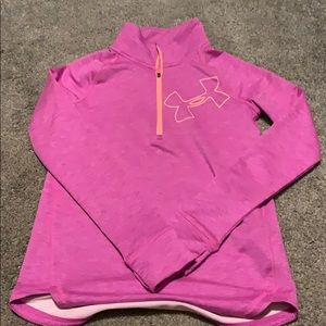 Under armour girls pull over large